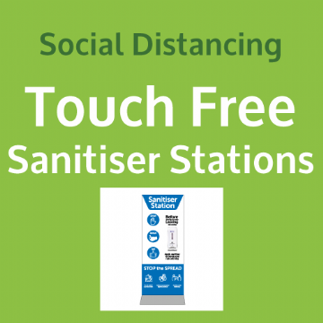 Touch Free Sanitiser Stands